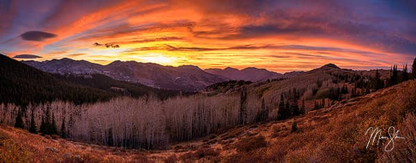 Big Cottonwood Canyon Autumn Sunset