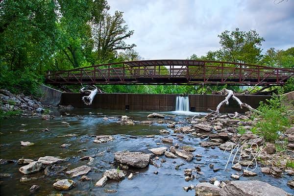 El Dorado Riverside Bridge Falls