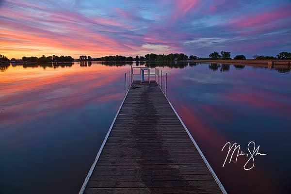 Eureka City Lake Pier Sunset