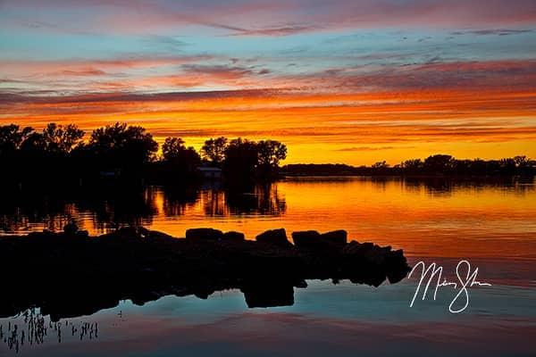 Eureka City Lake Sunset