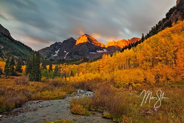 Fiery Sunrise at the Maroon Bells