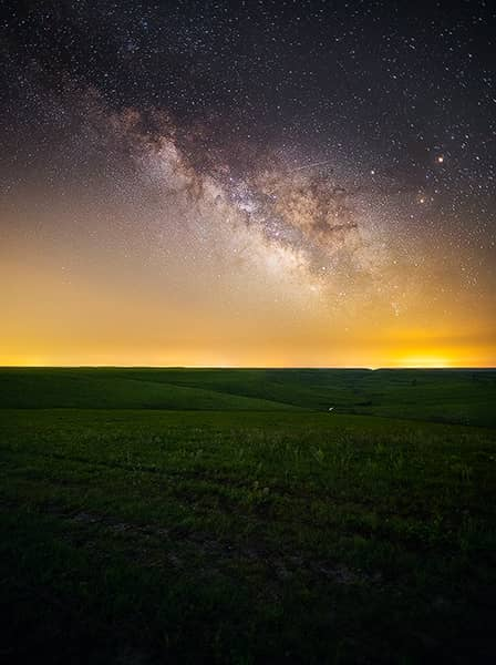 Flint Hills Meteor Milky Way