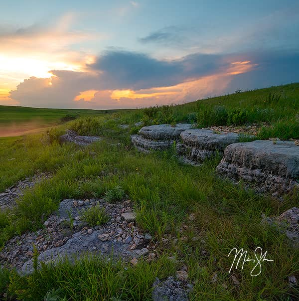 Flint Hills Stormy Sunset