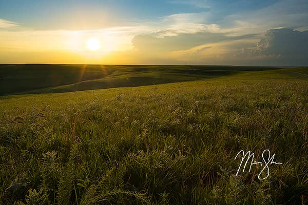 Flint Hills Sunset Warmth