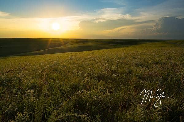 Flint Hills Sunset Warmth