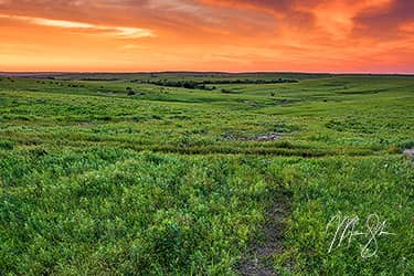 Flint Hills Sunset
