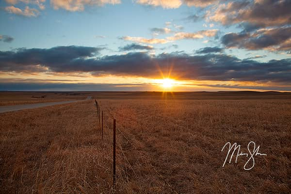 Flint Hills Winter Sunrise
