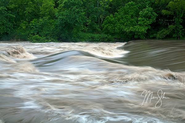 Flooded Walnut River at Tunnel Mill Dam