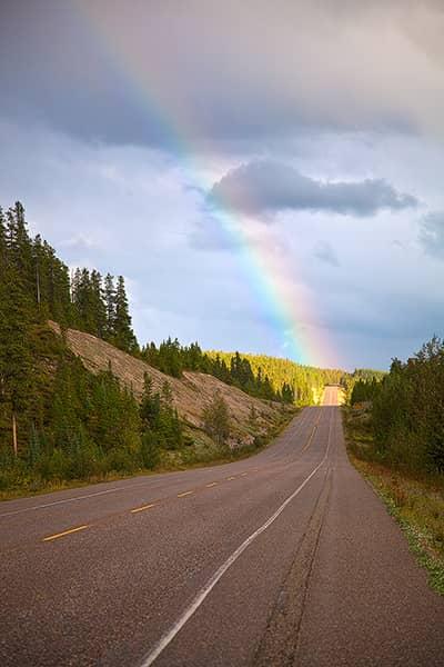 Icefields Parkway Rainbow