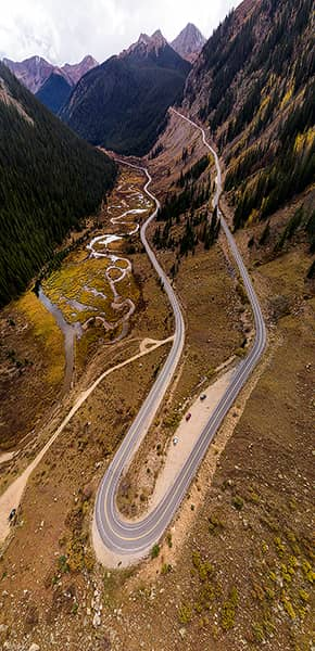 Independence Pass Autumn Curves