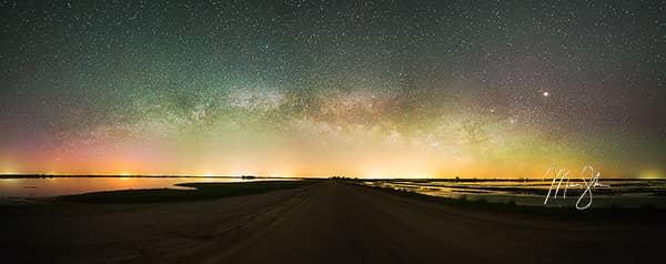Kansas Aurora Borealis Milky Way Panorama