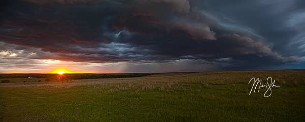 Kansas Storm and Sunset Panorama