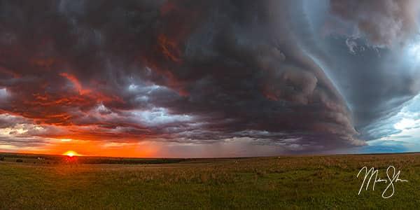 Kansas Sunset Thunderstorm