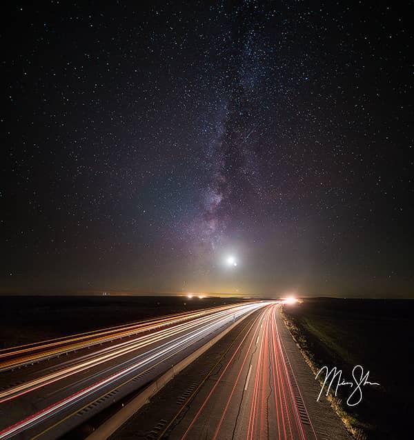 Kansas Turnpike Milky Way