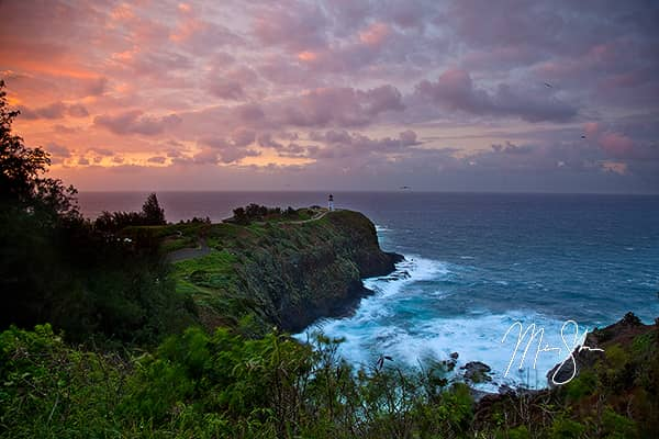 Kilauea Lighthouse Sunset