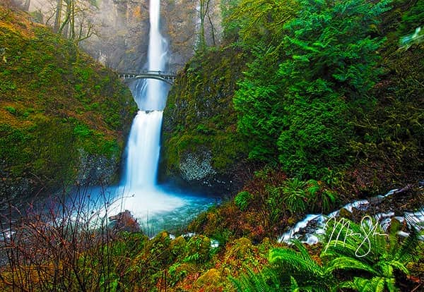 Oregon Photo Galleries - Featured: Legend of Multnomah Falls, Oregon