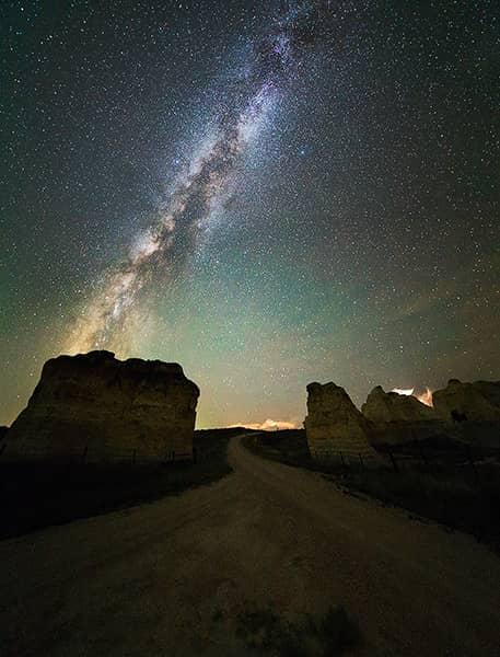 Little Pyramids Milky Way
