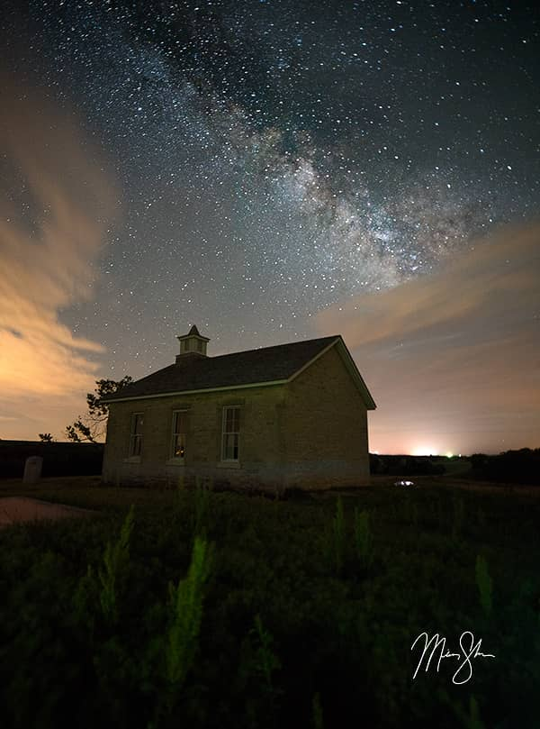 Lower Fox Creek Schoolhouse Milky Way