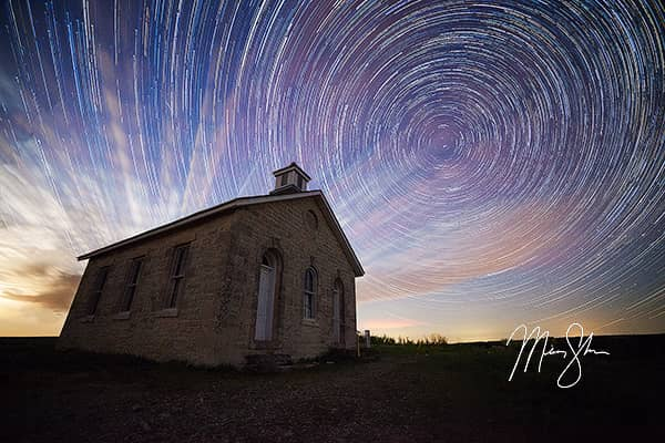 Lower Fox Creek Schoolhouse Startrails