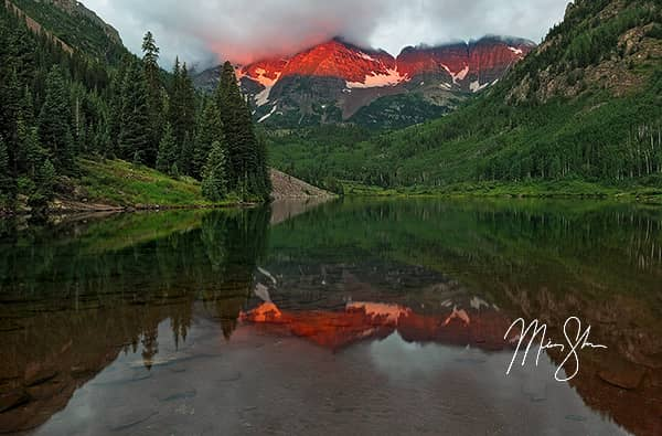 Colorado Photo Galleries - Featured: Maroon Bells Alpineglow Sunrise
