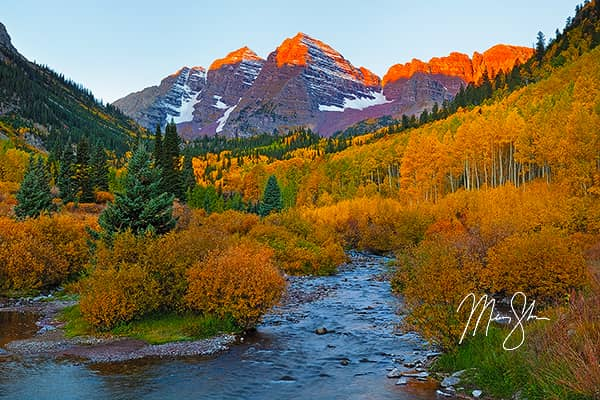 Maroon Bells Autumn Alpineglow