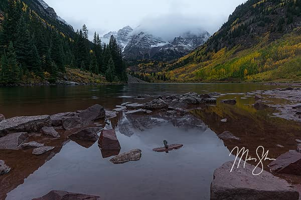 Maroon Bells Autumn Reflection