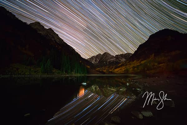 Maroon Bells Star Trails