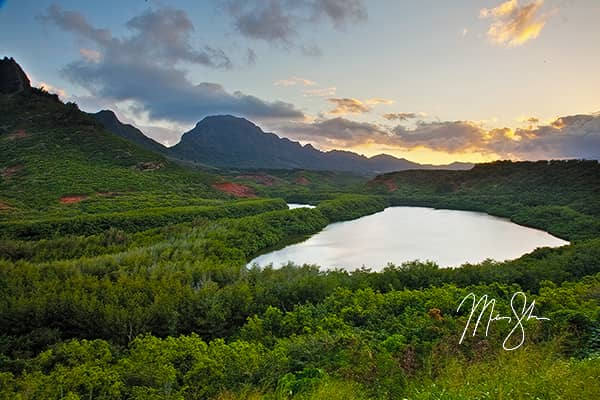 Menehune Alekoko Fish Pond Sunset