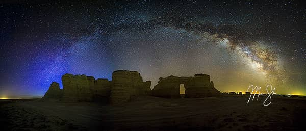 Monument Rocks Milky Way