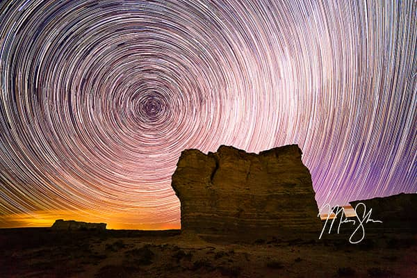 Monument Rocks Star Trails