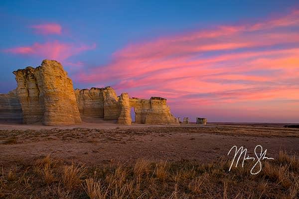 Monument Rocks Sunset