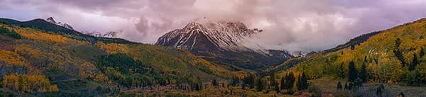 Moody Mount Sneffels Autumn Sunset