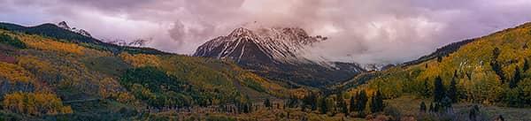 Moody Mount Sneffels Autumn Sunset