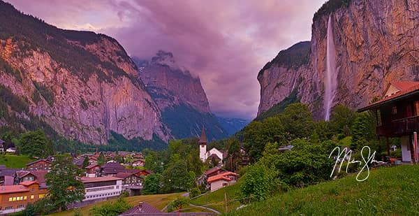 Purple Lauterbrunnen Sunset