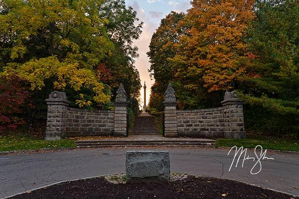 Queenston Heights Park Autumn Sunset