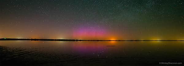 Quivira Northern Lights Panorama