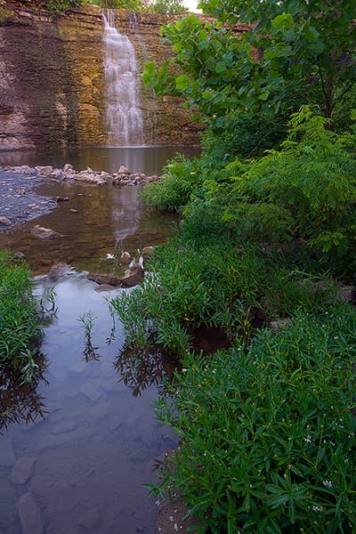 Reflective Bourbon Falls