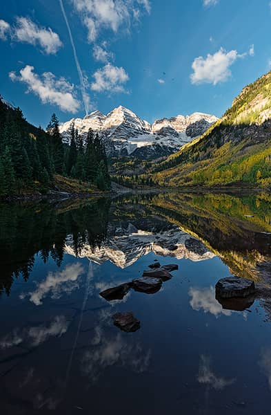Reflective Maroon Bells in the Autumn