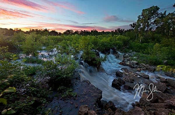 Santa Fe Lake Falls Sunset