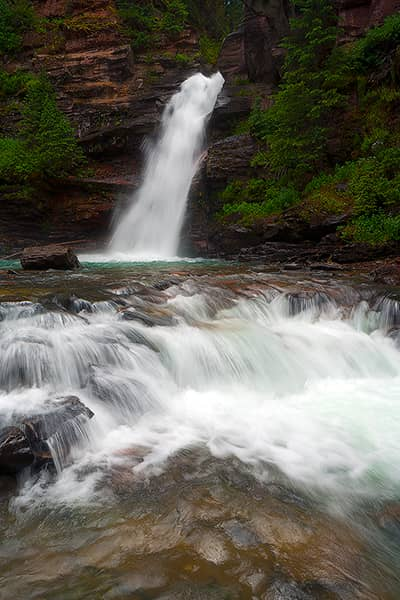 South Fork Mineral Creek Falls Vertical