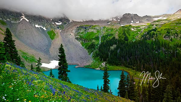 Storms Above Blue Lake Panorama