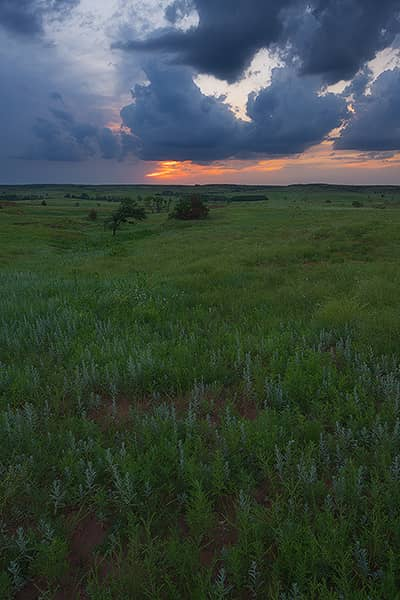 Storms Over the Gypsum Hills