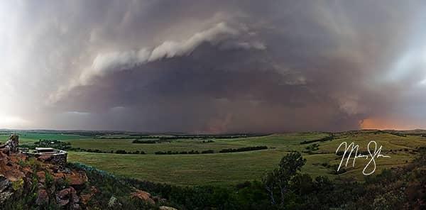 Stormy Coronado Heights Panorama