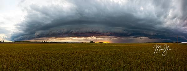 Stormy Kansas Sunset Panorama