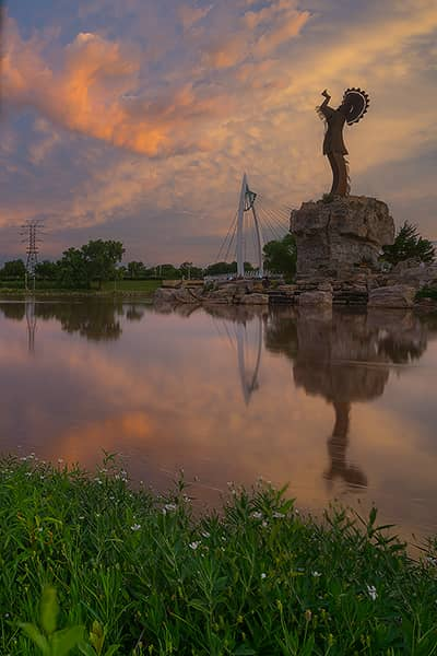 Summer Reflection at the Keeper of the Plains