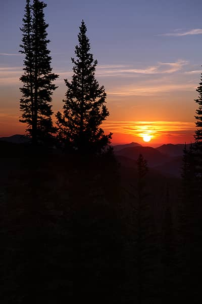 Sunrise Over Rocky Mountain National Park