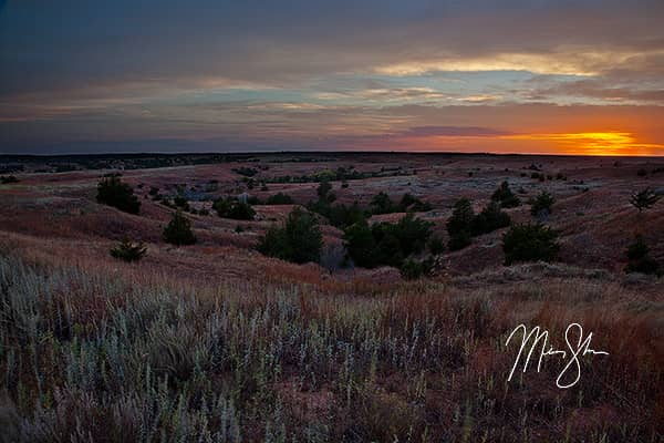 Sunset Over the Gypsum Hills