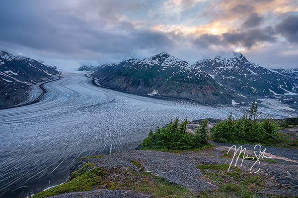 Sunset Over the Salmon Glacier