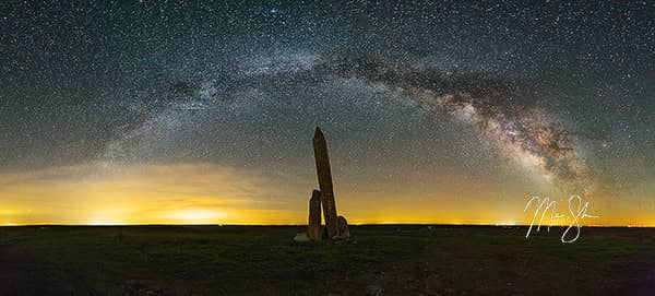 Teter Rock Milky Way Panorama