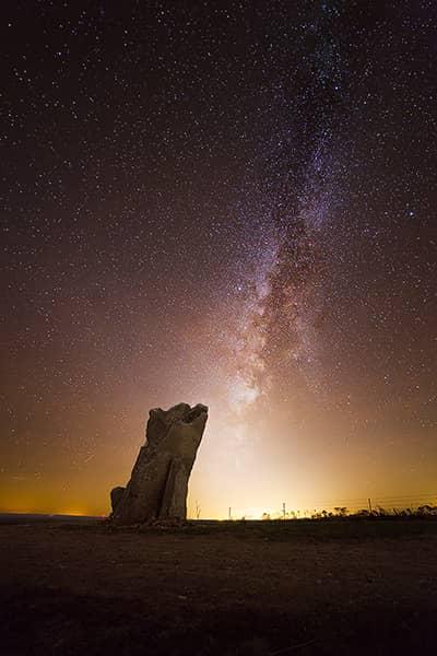 Teter Rock Winter Milky Way